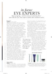 Blepharoplasty Dr Tsirbas - Vogue ad pg 1